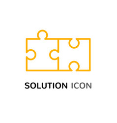 simple solution puzzle concept solving problem vector image