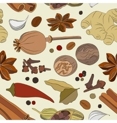 Spices condiments and herbs decorative elements vector