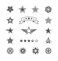 star icons and logos collection set icons vector image