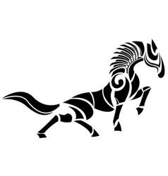 Stylized horse logo vector