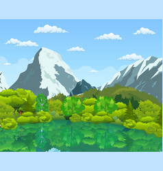 summer landscape with green forest vector image
