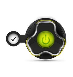 techno futuristic start power button vector image