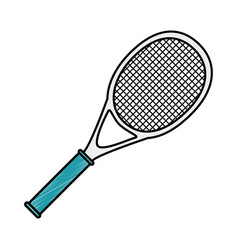 tennis sport racket icon vector image