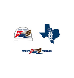 texas football template vector image