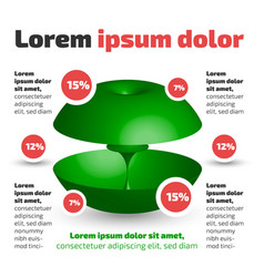 Three dimensional circle shape infographic vector