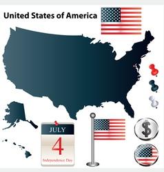 Usa flag small vector