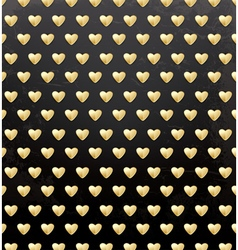 Valentines Day Pattern with Golden Hearts vector image