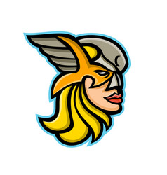 valkyrie warrior mascot vector image