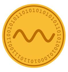 Wave sinusoid digital coin vector