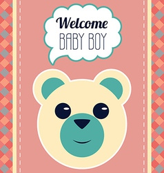 Welcome Baby Boy Card vector image