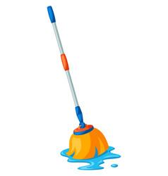 wet mop vector image