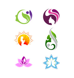 women shape spa and beauty logo vector image