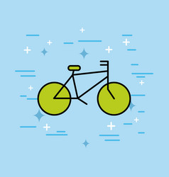 bicycle transport recreation ecology vector image