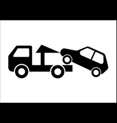 car towing truck vector image vector image