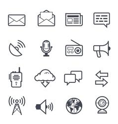 Communication Icon Bold Stroke vector image vector image