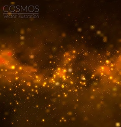 cosmos with stars and galaxy vector image vector image