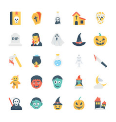 halloween colored icons 2 vector image vector image