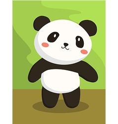 Panda Bear Cartoon vector image vector image