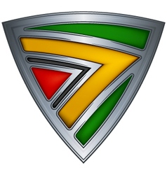 steel shield with flag guyana vector image