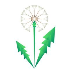 Blowball stylized original vector