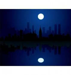city at night vector image vector image