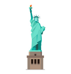 statue of liberty in flat style vector image vector image