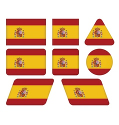 buttons with flag of Spain vector image