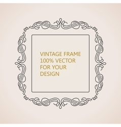 Calligraphic frame and page decoration vector image vector image