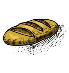 cartoon image of bread icon bread symbol vector image vector image