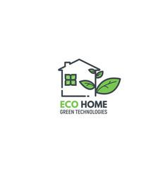 eco green home vector image vector image