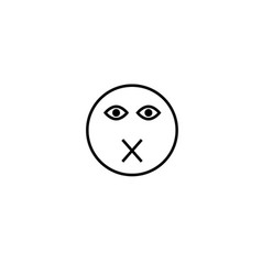muted emotion icon vector image
