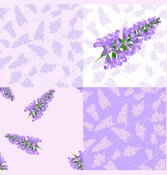 purple flowers seamless pattern vector image vector image