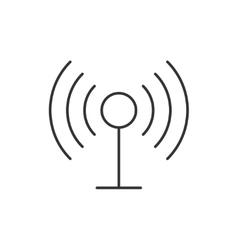 Radio antenna wireless icon vector image