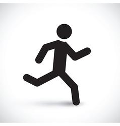 running stick man vector image