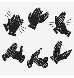 Applause clapping hands vector image vector image