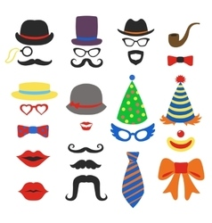 Birthday party photo booth props - Glasses vector image