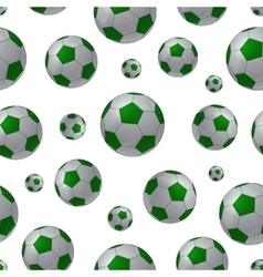Football ball seamless background vector image