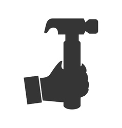 hammer hand tool construction icon graphic vector image