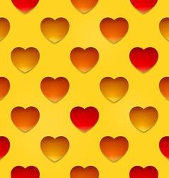 Hearts on beige vector image