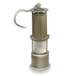 old miners lamp vector image