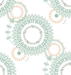 Seamless flowerr pattern vector image