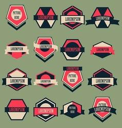 Vintage Logo Set vector image vector image