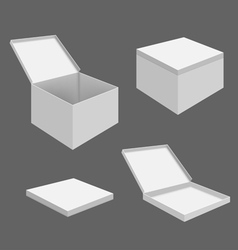 White Blank Boxes vector image