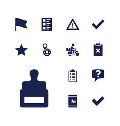 13 mark icons vector