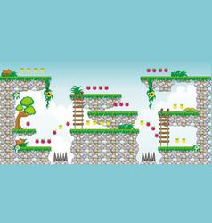 2d tileset platform game 22 vector