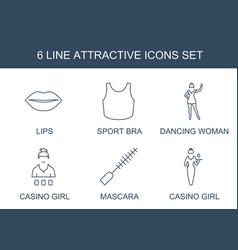 6 attractive icons vector