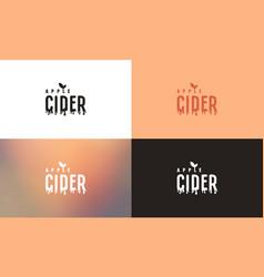 apple cider emblem template vector image