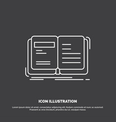 author book open story storytelling icon line vector image