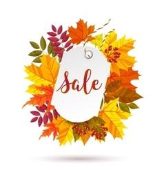 Autumn sale label vector