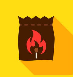 bag coal object icon vector image